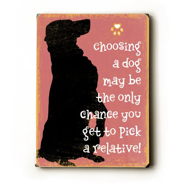 Pick a Relative by Kate Ward Thacker Graphic Art Plaque by Artehouse LLC