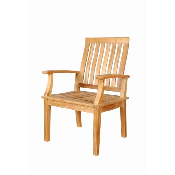 Bourgoin Teak Patio Dining Chair by Freeport Park
