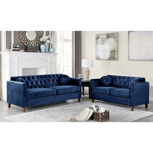 Persaud Classic Chesterfield 2 Piece Living Room Set By Mercer41