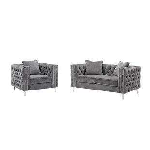 Brenda Modern 2 Pieces Living Room Set by House of Hampton®