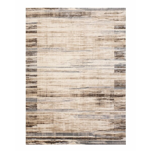 Gulley Distressed Beige/Gray Area Rug by Williston Forge