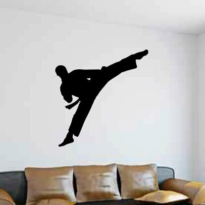 Marci Martial Arts Karate Kick Wall Decal by Zoomie Kids