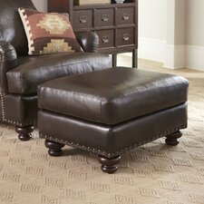 Montgomery Leather Ottoman by Birch Lane