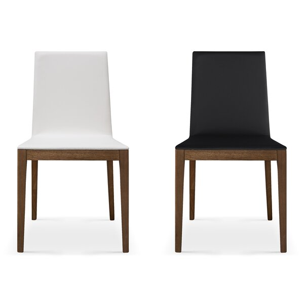 Adeline Upholstered Solid Wood Dining Chair (Set of 2) by Bellini Modern Living Bellini Modern Living