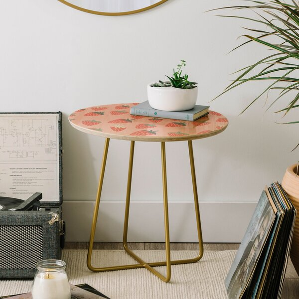 Dash and Ash Strawberry Disco End Table by East Urban Home