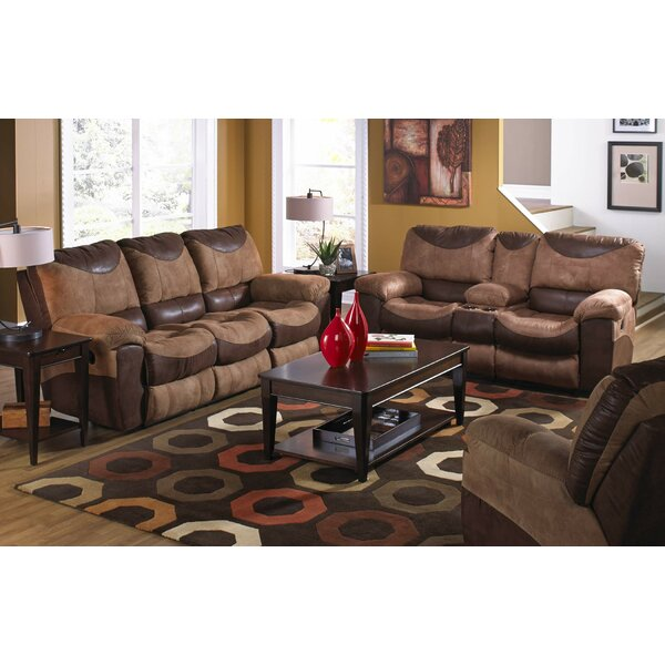 Chic Collection Portman Reclining Loveseat w/Storage & Cupholders by Catnapper by Catnapper