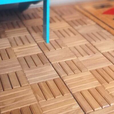 Cambridge Casual X Teak Interlocking Deck Tiles In Light - Teak patio flooring 12x12
