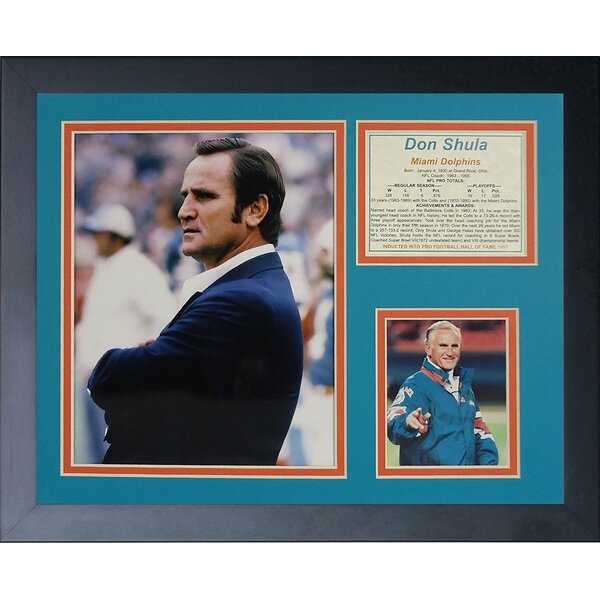 Don Shula Framed Memorabilia by Legends Never Die