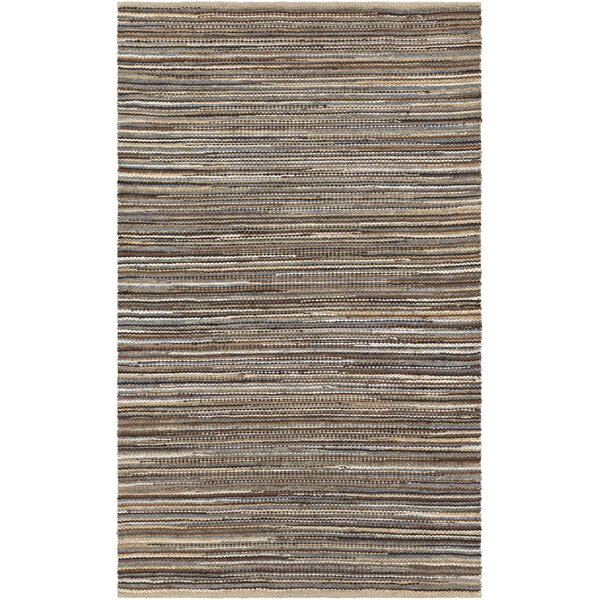 Pitcher Hand-Woven Blue/Black Area Rug by Gracie Oaks