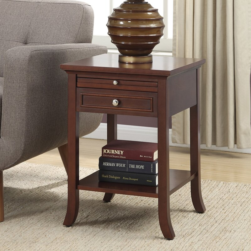 Andover Mills End Table With Storage & Reviews | Wayfair