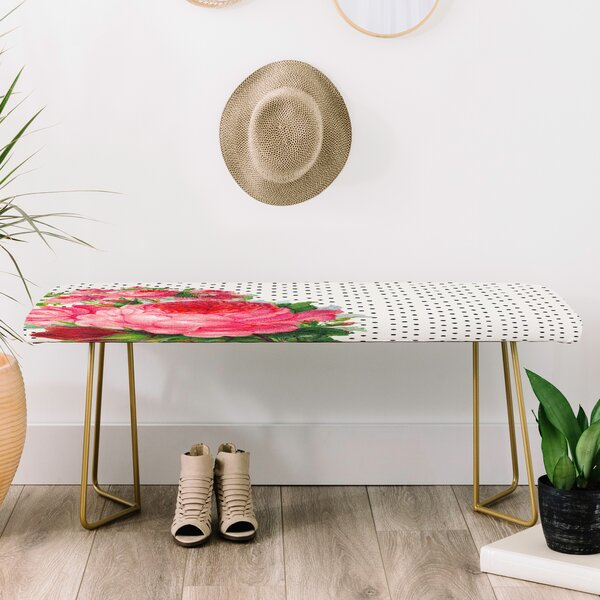 Allyson Johnson Faux Leather Bench by East Urban Home
