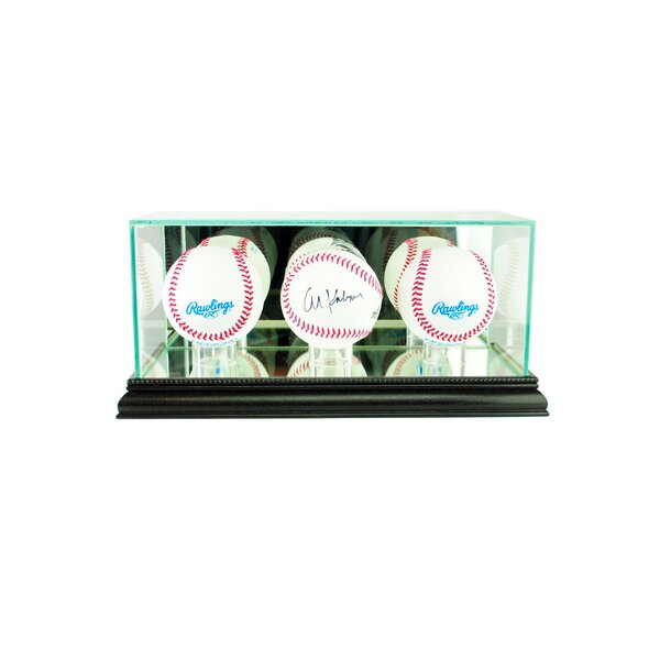 Triple Baseball Display Case by Perfect Cases and Frames