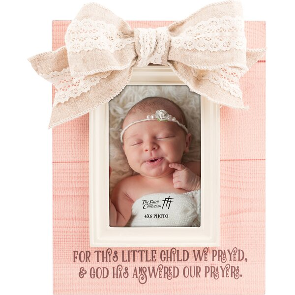 Faith For This Child Baby Girl Picture Frame by Carpentree