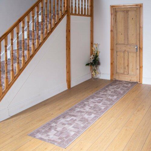 Banner Looped/Hooked Beige Hallway Runner Rug ClassicLiving Rug Size: Runner 270cm x 80cm