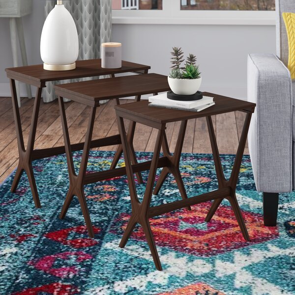 Review Milledgeville 3 Piece Nesting Table
