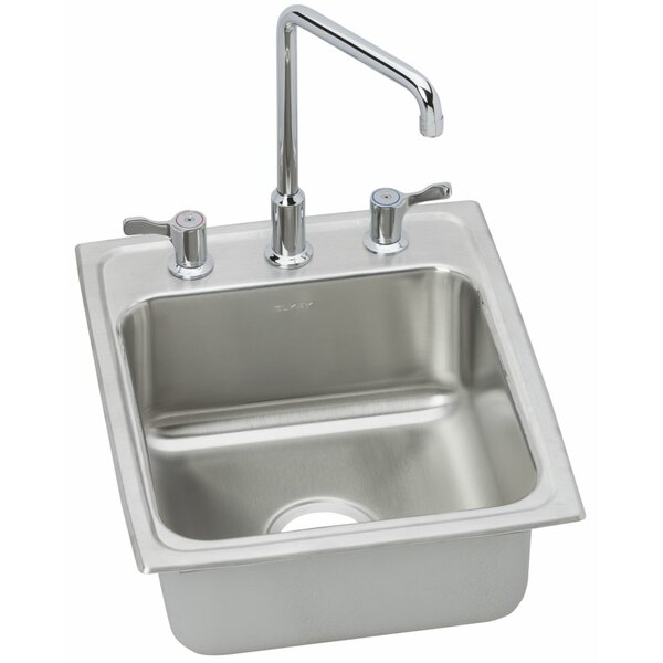 Lustertone 20 L x 17 W Drop-In Kitchen Sink with Faucet