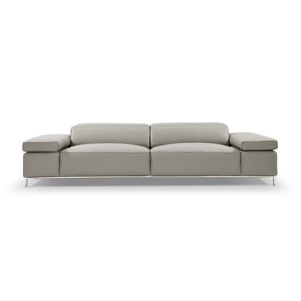Bock Leather Sofa by Orren Ellis
