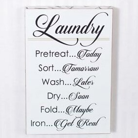 Laundry Wall decor by Adams & Co