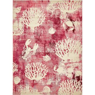 Dickenson Pink Area Rug by Rosecliff Heights