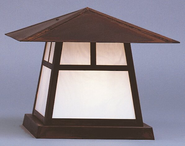 Carmel Outdoor 1-Light Pier Mount Light by Arroyo Craftsman