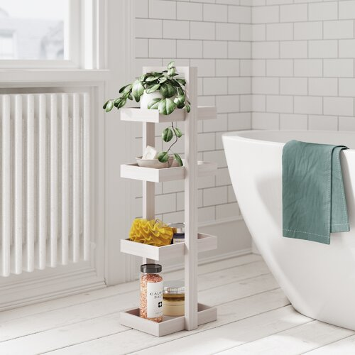 22 cm x 83 cm Badregal Caddy Quattro Belfry Bathroom | Bad > Badmöbel | Belfry Bathroom