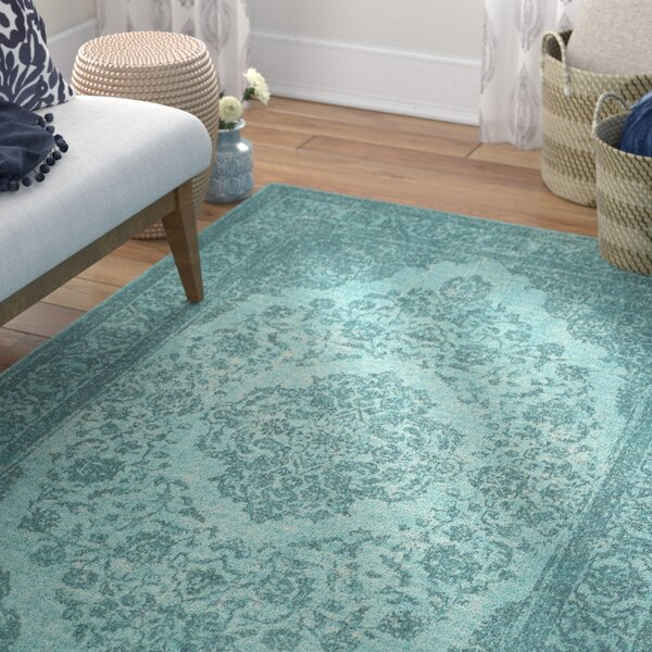 Middleborough Classic Vintage Aqua Area Rug by Bungalow Rose