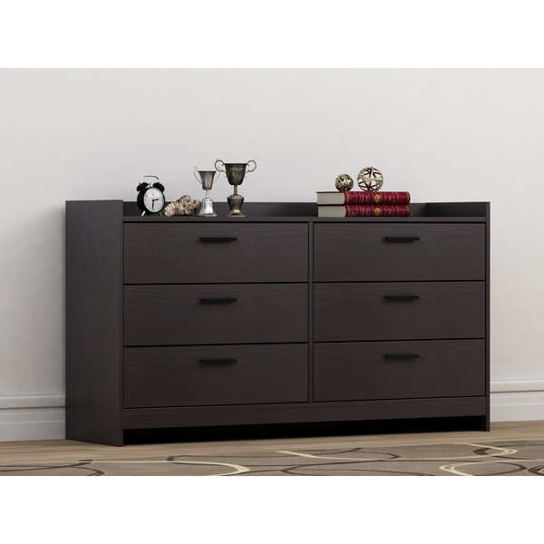 Van Buren 6 Drawer Double Dresser by Ebern Designs