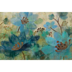 'Peacock Garden' by Silvia Vassileva Painting Print on Wrapped Canvas by East Urban Home