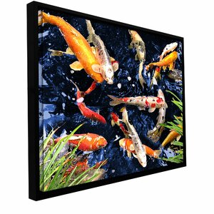 'Koi' by George Zucconi Framed Painting Print on Wrapped Canvas by ArtWall