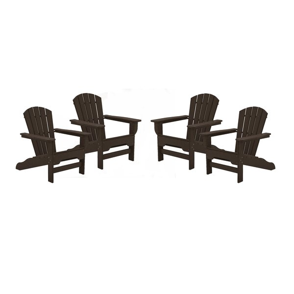 Strickland Plastic/Resin Adirondack Chair (Set of 4) by Breakwater Bay Breakwater Bay