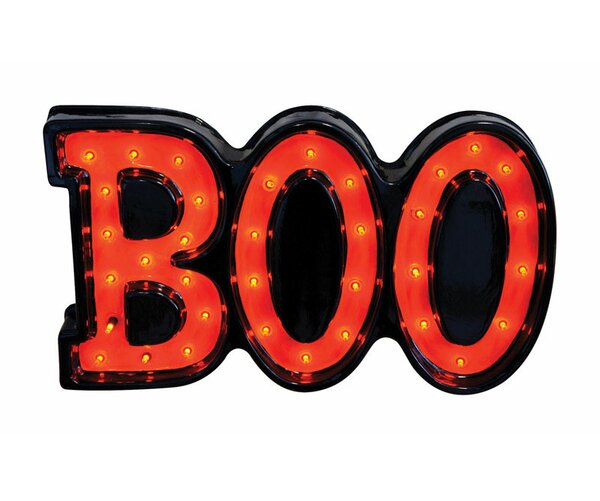 35 Light Plastic Boo Sign by Penn Distributing35 Light Plastic Boo Sign by Penn Distributing