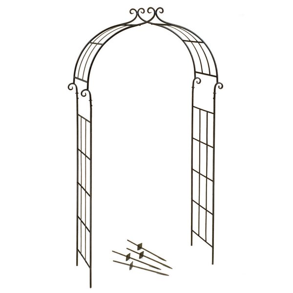 Candy Cane Arch Metal Arbor by Deer Park Ironworks