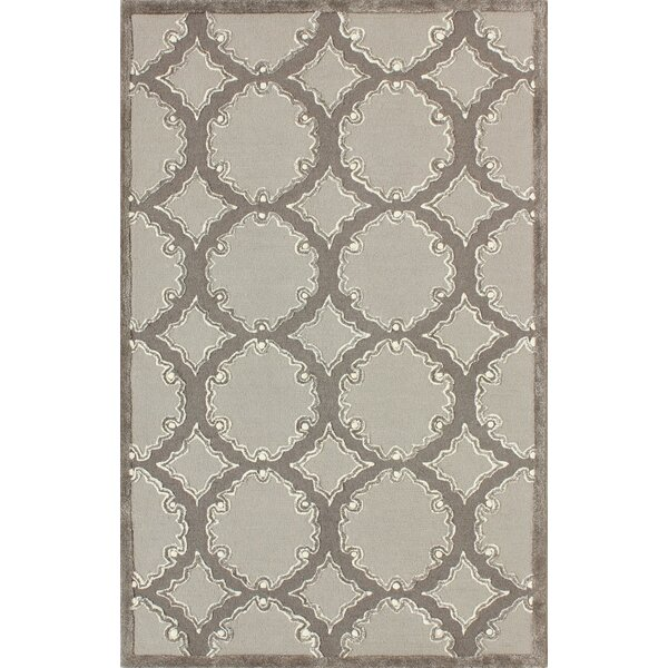 Mccullough Hand-Tufted Gray/Light Gray Area Rug by Winston Porter