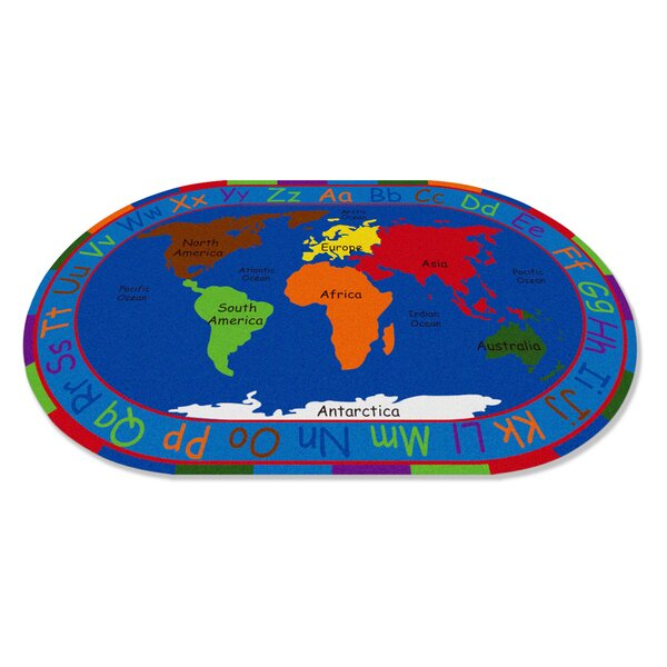 All Around the World Map Kids Rug by Kid Carpet