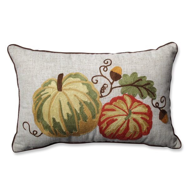 Gourdy Harvest Lumbar Pillow by Pillow Perfect