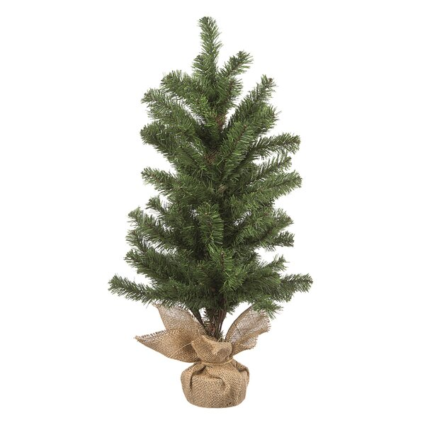 28 Green Pine Trees Artificial Christmas Tree with Burlap Base by The Holiday Aisle