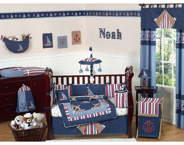 Nautical Nights 9 Piece Crib Bedding Set by Sweet Jojo Designs