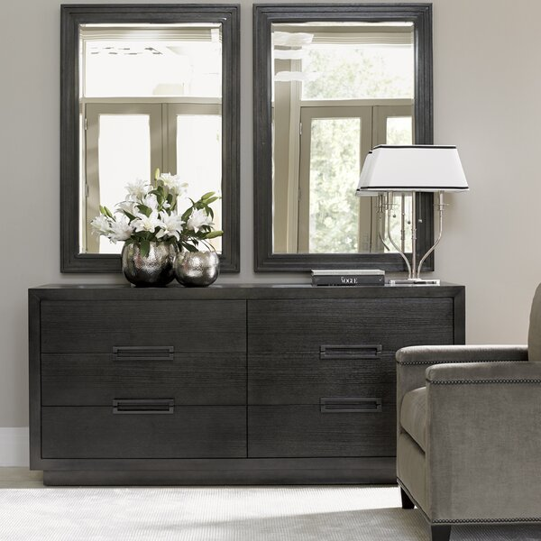 Carrera 6 Drawer Double Dresser with Mirror by Lexington