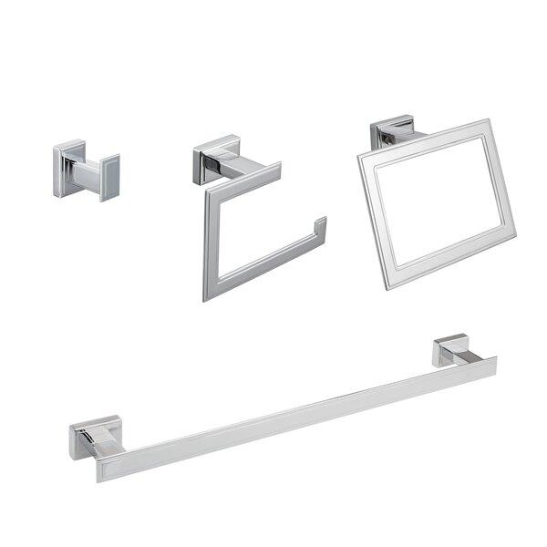 Carraway 4 Piece Bathroom Hardware Set by Maykke
