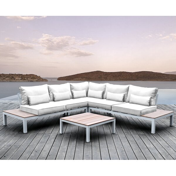 Pulito 4 Piece Sectional Set with Cushions by Solis Patio