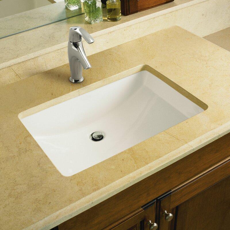 K-2214-0,33,47 Kohler Ladena Ceramic Rectangular Undermount Bathroom ...