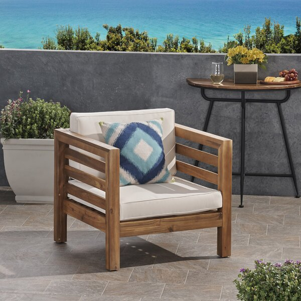 Dunn Outdoor Club Patio Chair with Cushions by Breakwater Bay