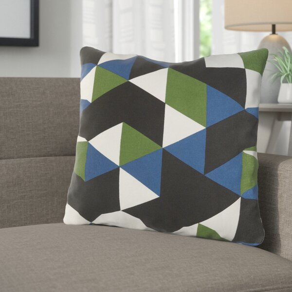 Arsdale Geometric Cotton Throw Pillow by Langley Street
