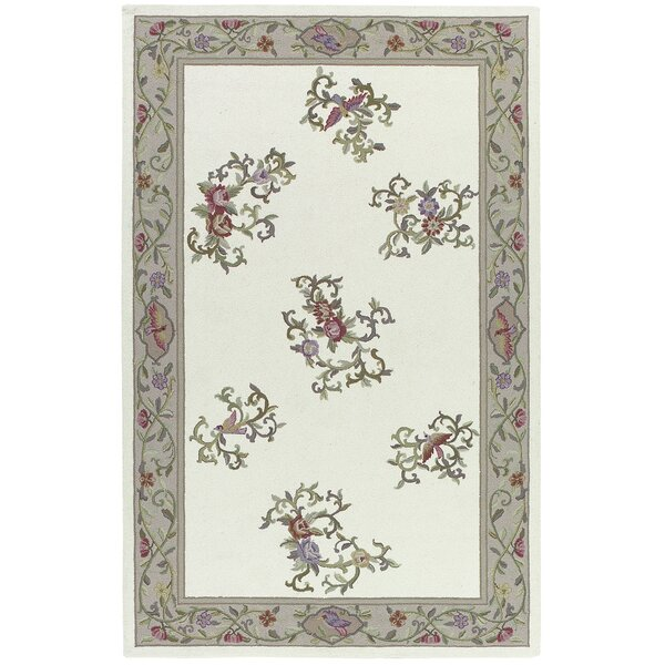 Kendall Hand Hooked Ivory Rug by August Grove