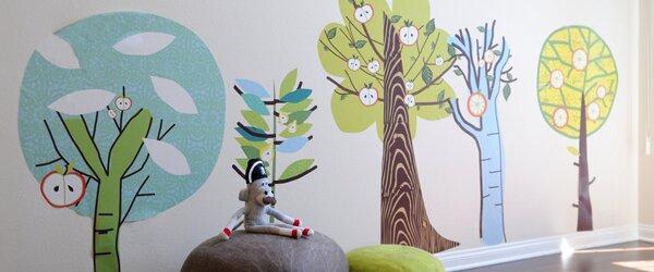 24 x 32 Removable Wall Art Mural ArtWall Henrietta Angels Sunshine Love