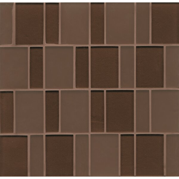 Remy Glass 12 x 12 Glass Mosaic Brick in Bronze by Grayson Martin