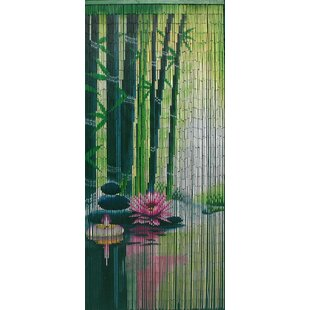 Merveilleux Serenity Zen Bamboo Beaded Single Curtain Panel