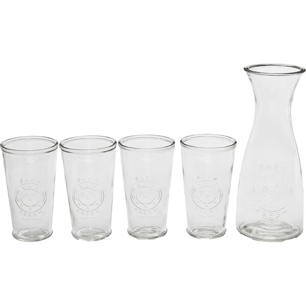 Ranch 5 Piece Beverage Serving Set by Circle Glass