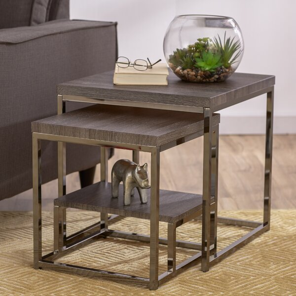 Philippos 2 Piece Nesting Tables by Mercury Row