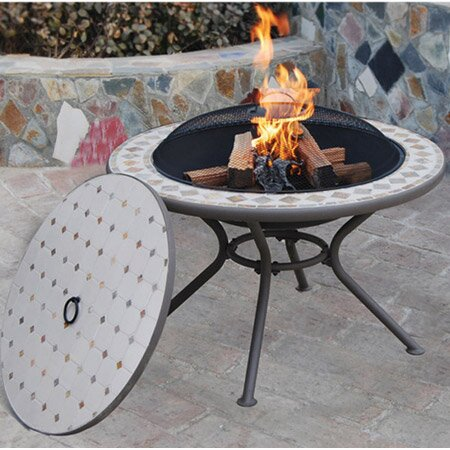 Milano Steel Wood Burning Fire Pit Table by Deeco